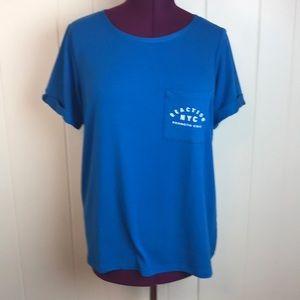 Kenneth Cole Wide Neck Pocket Tee Shirt